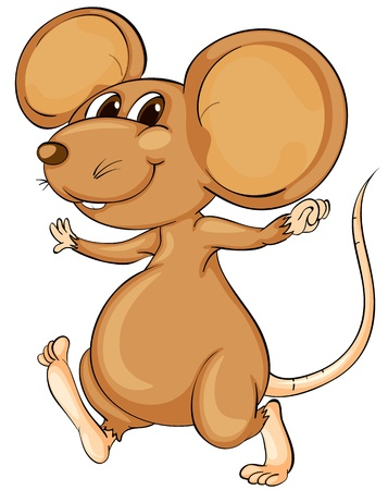Photo for Cute cartoon mouse on white - Royalty Free Image