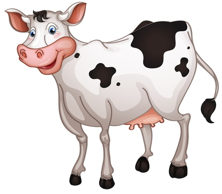 illustration of cow in a white background