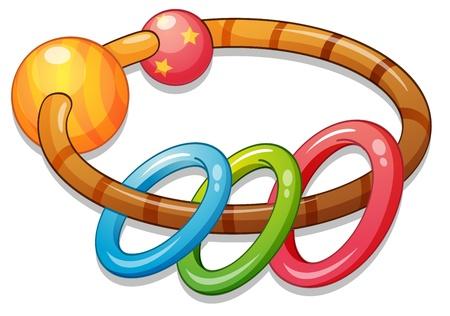 Foto für Illustration of a kids rattle - Lizenzfreies Bild