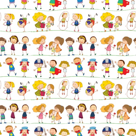 Foto per illustration of a kids on a white background - Immagine Royalty Free