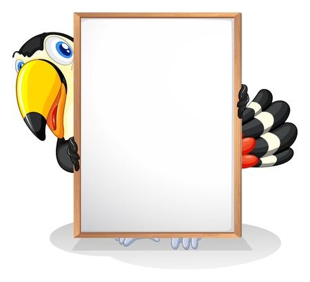 Illustration pour Illustration of a tucan on a white background - image libre de droit