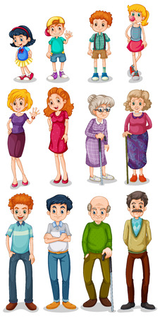 Illustration for Illustration of the humans on a white background - Royalty Free Image