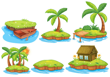 Illustration for Illustration of different islands - Royalty Free Image