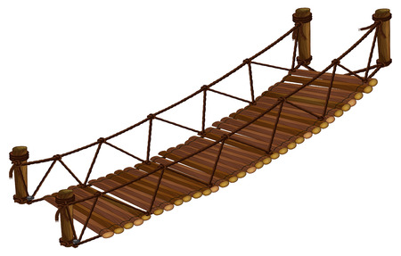 Illustration of a close up bridge