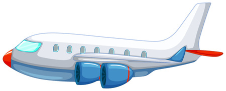 Illustration pour Illustration of a close up aeroplane - image libre de droit