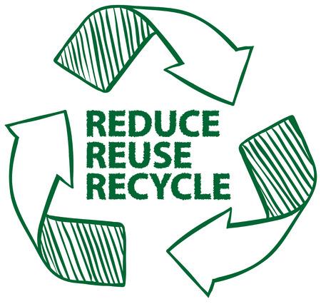 Ilustración de Illustration of recycling sign - Imagen libre de derechos