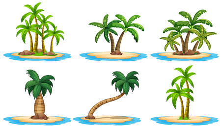 Illustration for Illustration of a set of many islands - Royalty Free Image