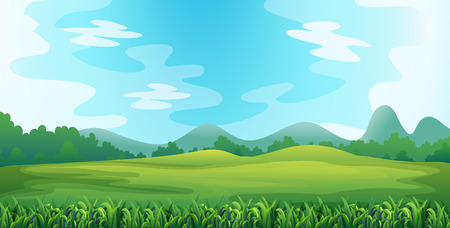 Illustration pour Illustration of a green field - image libre de droit