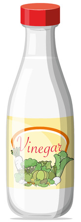 Ilustración de Illustration of a bottle of vinegar - Imagen libre de derechos