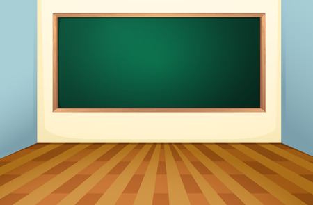 Illustration pour Illustration of an empty classroom with a board - image libre de droit