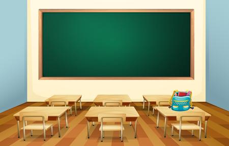 Illustration pour Illustration of an empty classroom - image libre de droit