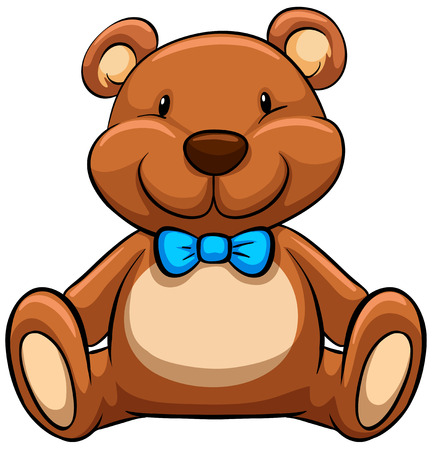 Illustration pour Close up brown teddy bear - image libre de droit