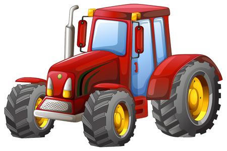 Illustration pour Close up plain red tractor - image libre de droit