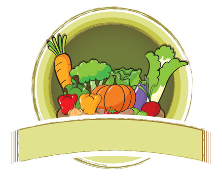 Photo for Empty banner with vegetables background - Royalty Free Image