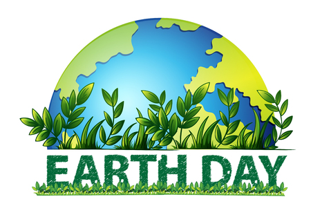 Illustration pour Earth day green background illustration - image libre de droit