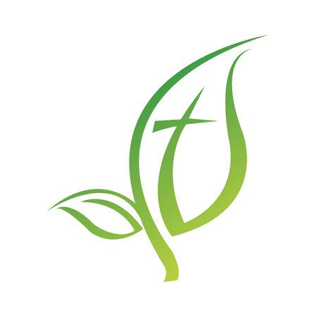 Illustration for Leaf symbol icon design. - Royalty Free Image