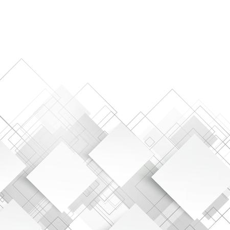 Illustration pour Vector white squares. Abstract background. Gray blank - image libre de droit