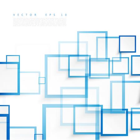 Illustration pour Vector blue squares. Abstract background. Sky blank - image libre de droit