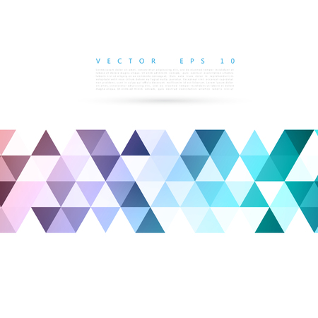 Illustration pour Vector Abstract background blue triangular shapes.  - image libre de droit