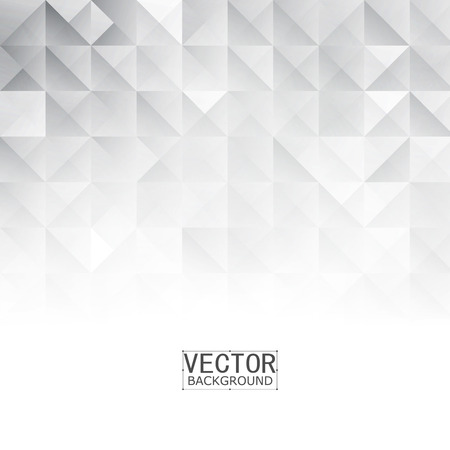 Illustration pour Vector Abstract geometric shape from gray. White squares and triangles - image libre de droit