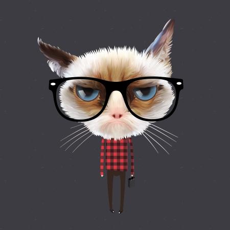 Ilustración de Funny cartoon cat - Imagen libre de derechos