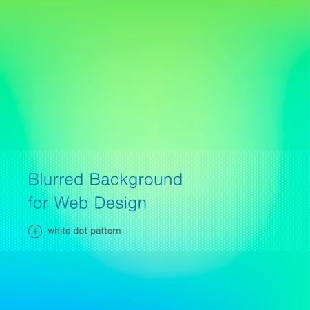 Green blurred background for web design, vector illustration
