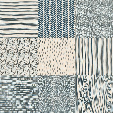 Illustration pour Seamless floral vintage pattern set, vector illustration. - image libre de droit