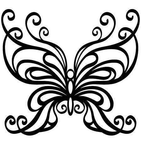 Illustration pour Vector butterfly - image libre de droit
