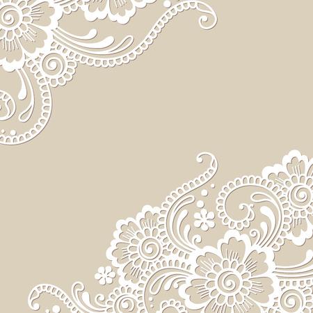 Illustration for Flower vector ornament corner - Royalty Free Image