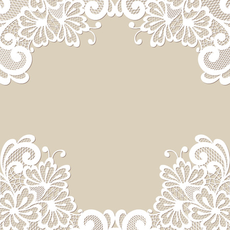 Illustration for Flower vector ornament frame - Royalty Free Image