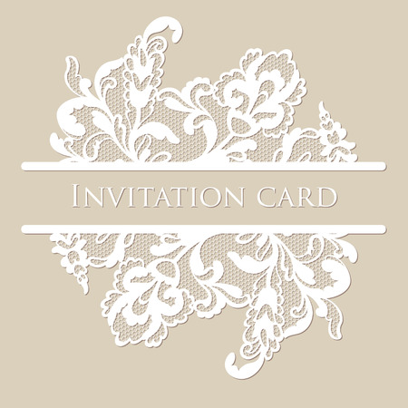 Illustration pour Vector lace card - image libre de droit