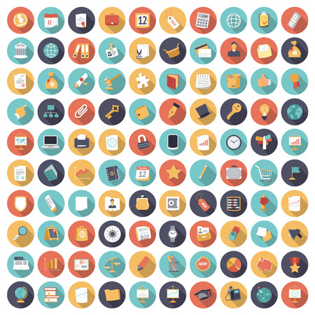 Foto de Flat design icons for business and finance. Vector eps10 with transparency. - Imagen libre de derechos