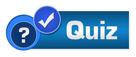 Photo for Quiz Two Blue Circles - Royalty Free Image