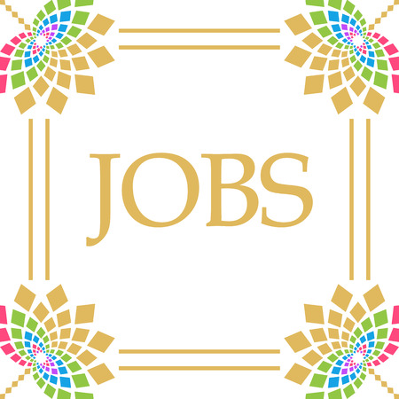 Photo for Jobs Colorful Floral Square - Royalty Free Image