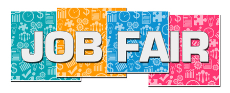 Photo for Job Fair Business Texture Colorful Blocks - Royalty Free Image