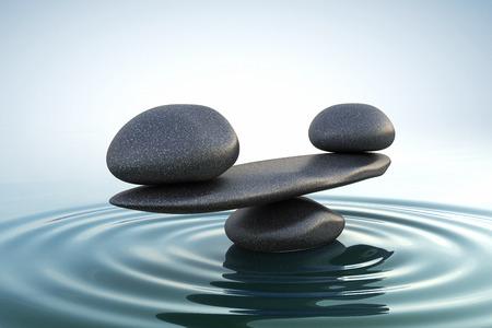 Photo pour Zen stones balance - image libre de droit