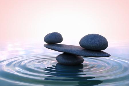 Photo pour Zen stones. Sunrise Zen stones. Sunrise - image libre de droit
