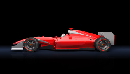 Photo for Generic red race car on the black background - Royalty Free Image