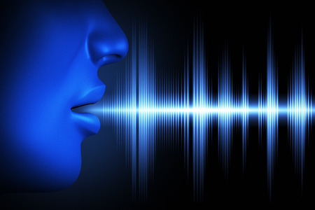 Photo for Conceptual image about human voice - Royalty Free Image