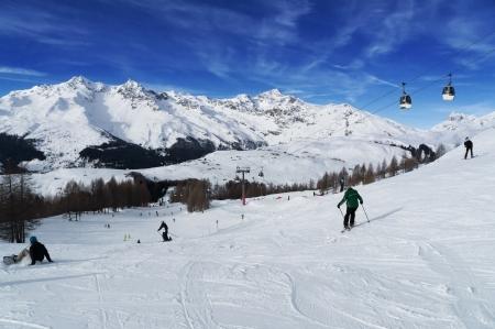 On the slopes of ski resort
