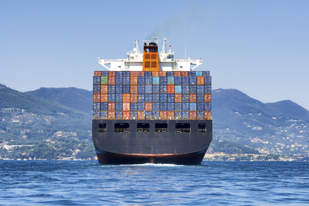 Photo for big cargo container ship - Royalty Free Image