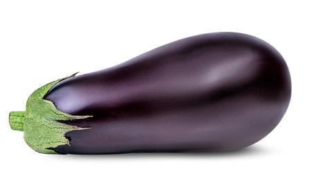 Foto de eggplants isolated on white background - Imagen libre de derechos