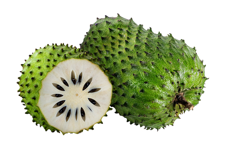 Photo for Annona muricata.Soursop fruit (Sugar Apple ,custard apple ) isolated on white background - Royalty Free Image