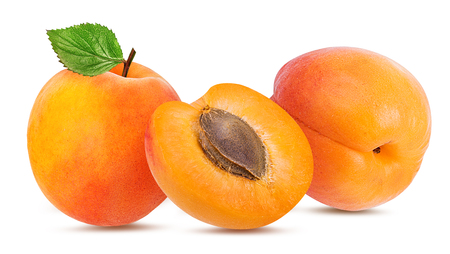 Photo for apricot isolated on white background - Royalty Free Image