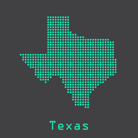Illustration pour Texas abstract dots map. Dotted style - image libre de droit