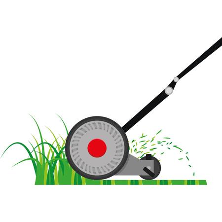 Illustration pour Isolated mower on a white background, Vector illustration - image libre de droit