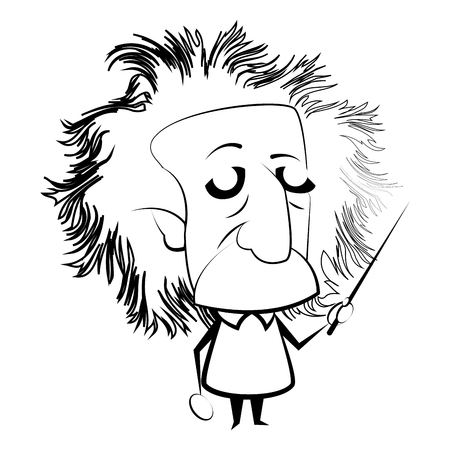 Illustration pour Isolated outline of Einstein character, Vector illustration - image libre de droit