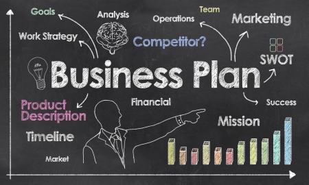 Foto de Business Plan with Creative Businessman showing Positive Growth - Imagen libre de derechos