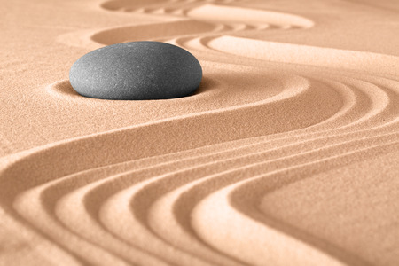 Photo for japanese zen stone garden meditation background - Royalty Free Image