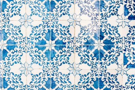 Foto de Great for textures Andalusia style wall Azulejos tiles background - Imagen libre de derechos